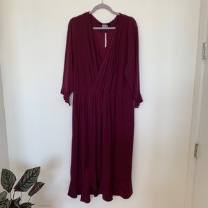 ASOS Curve Plum Drapey Dress